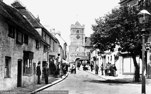Photo of Seaford, Church Street And St Leonard's Church 1900