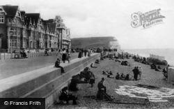 Seaford, Parade And Beach 1894