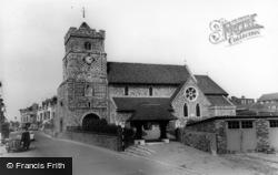 Seaford, Parish Church Of St Leonard c.1965