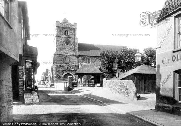 Photo of Seaford, St Leonard's Church And Lychgate 1897