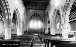 Seaford, St Leonard's Church Interior 1890