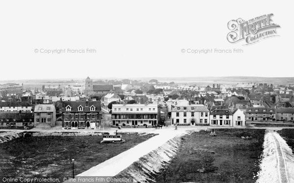 Photo of Seaford, Steyne Road From Esplanade Hotel 1891