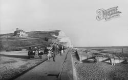 The Beach And East Cliffs c.1955, Seaford