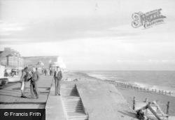 Seaford, The Beach c.1955
