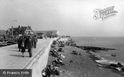Seaford, The Promenade c.1955