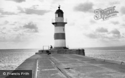 Seaham, the Pier Lighthouse c1960
