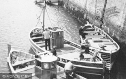 Fishermen And Their Boats c.1955, Seahouses