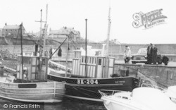 Fishing Boats In The Harbour c.1965, Seahouses