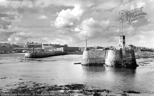 Photo of Seahouses, Harbour Entrance c.1955
