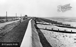The Camp Site And Sea Wall c.1950, Seasalter