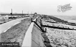 Seasalter, The Sea Wall c.1955