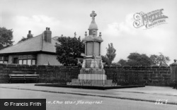 Seaton Burn, War Memorial c.1955