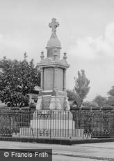 Seaton Burn, War Memorial c1955