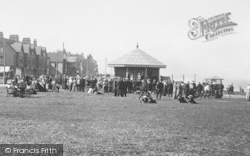 Seaton Carew, A Gathering Around The Bandstand 1914