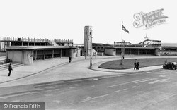 Seaton Carew, The Bus Station c.1955