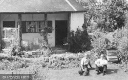 Men In The Round House Garden c.1960, Seaton