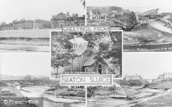 Seaton Sluice, Composite c.1955