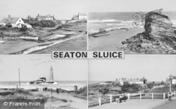 Seaton Sluice, Composite c.1965