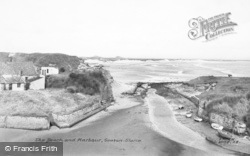 Seaton Sluice, The Beach And Harbour c.1955