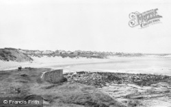 Seaton Sluice, The Long Beach c.1955