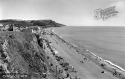 The Beach At Culverhole Point c.1958, Seaton