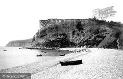 White Cliff From Beach 1898, Seaton