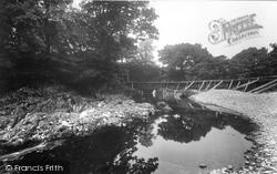 Sedbergh, Birks Weir, River Rawthey 1923