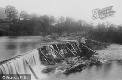 Sedbergh, Mill Weir 1890