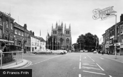 Selby, Abbey And Town c.1965