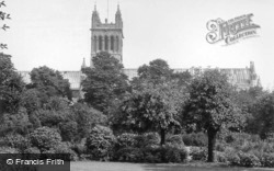 Abbey From The Park c.1955, Selby