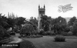 Abbey From The Park c.1960, Selby