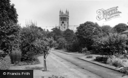 Selby, Abbey From The Park c.1960