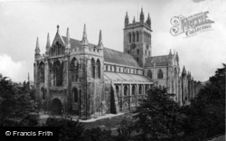 Selby, Abbey, From The South West 1913