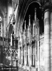 Abbey, Interior c.1950, Selby