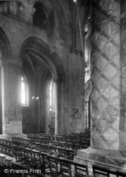 Abbey Interior, The Nave 1924, Selby