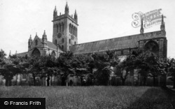 Selby, Abbey, North View 1918