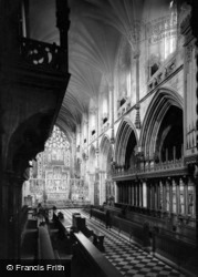 Abbey, The Choir Stalls c.1955, Selby