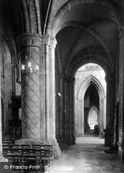 Abbey, The South Aisle 1924, Selby