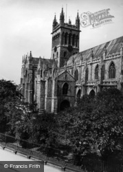 Abbey, The Tower And South Transept 1936, Selby