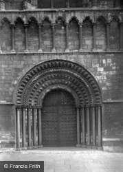 Abbey, The West Door 1918, Selby