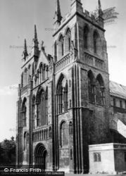 Abbey, The West Front c.1950, Selby