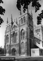 Abbey, The West Front c.1955, Selby