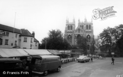 The Abbey And Market Place c.1965, Selby