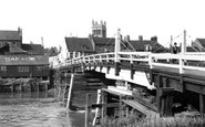 Selby, the Old Toll Bridge c1955