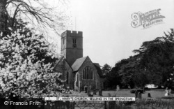 Selling, St Mary's Church In Springtime c.1960