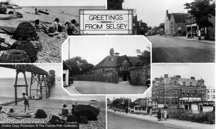 Photo of Selsey, Composite c.1955