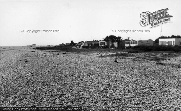 Photo of Selsey, East Beach Bungalows c.1955
