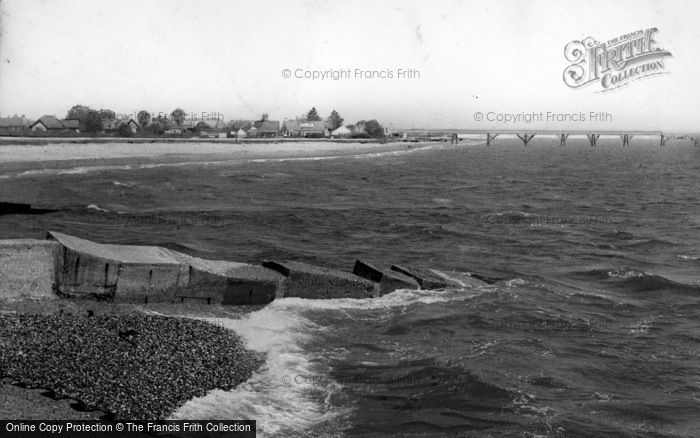 Photo of Selsey, East Beach c.1955