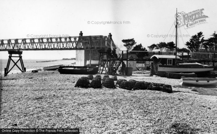 Photo of Selsey, Fishermans Beach c.1955