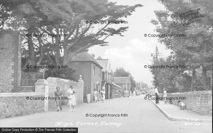 Photo of Selsey, High Street c.1955